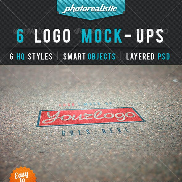 6 Photoreaslistic Logo Mock-Up Vol.1