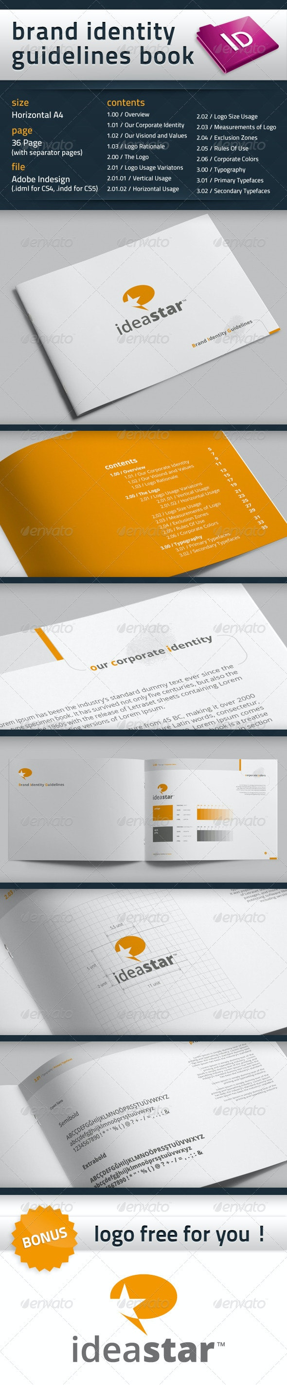 Brand Identity Guidelines Book - Miscellaneous Print Templates