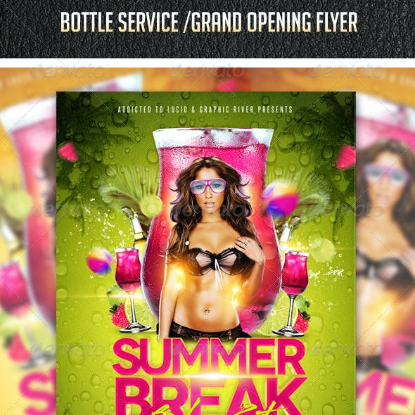 Summer Break Bikini Party Flyer