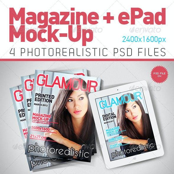 Magazine & ePad Mock-Up