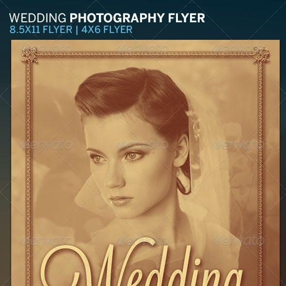 Elegant Wedding Photography Flyer Template