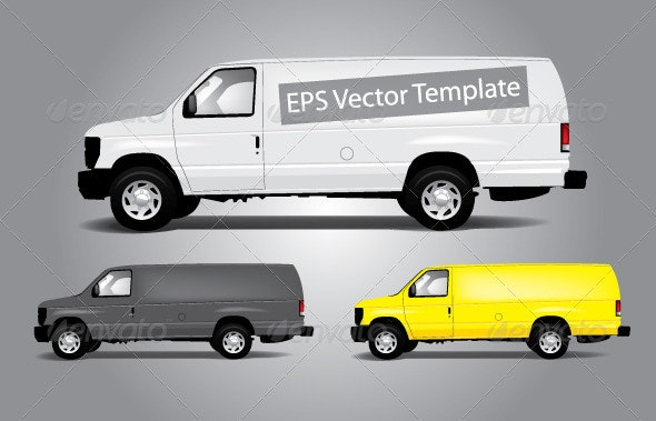 Vans Template - Man-made Objects Objects