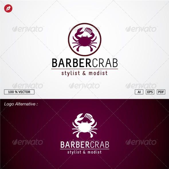 Barber Crab Logo Template