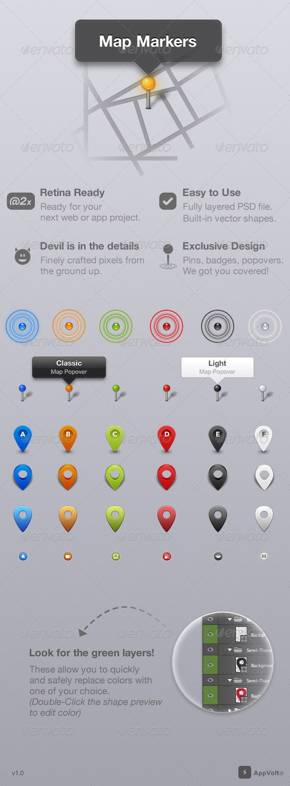 Map Markers - Icons