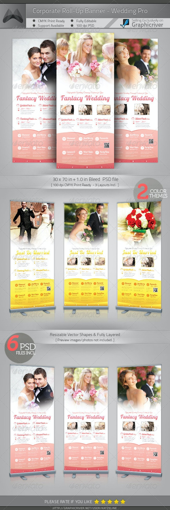 Corporate Roll-up Banner - Wedding - Signage Print Templates