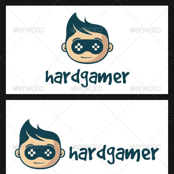 Geek Game Logo Template