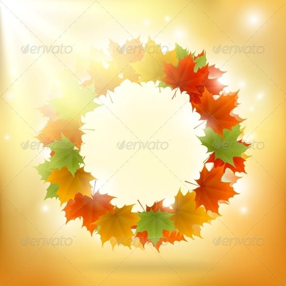 Abstract Gold Autumn Background