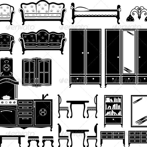 Furniture and Accessories for a Room