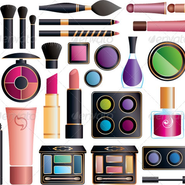 Set of Cosmetic Accessories