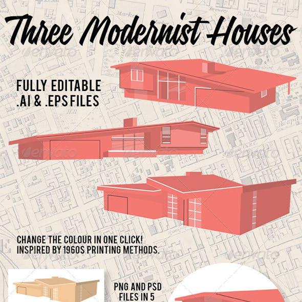 3 Modernist Houses
