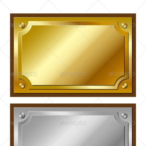 Golden Silver and Bronze Plaques