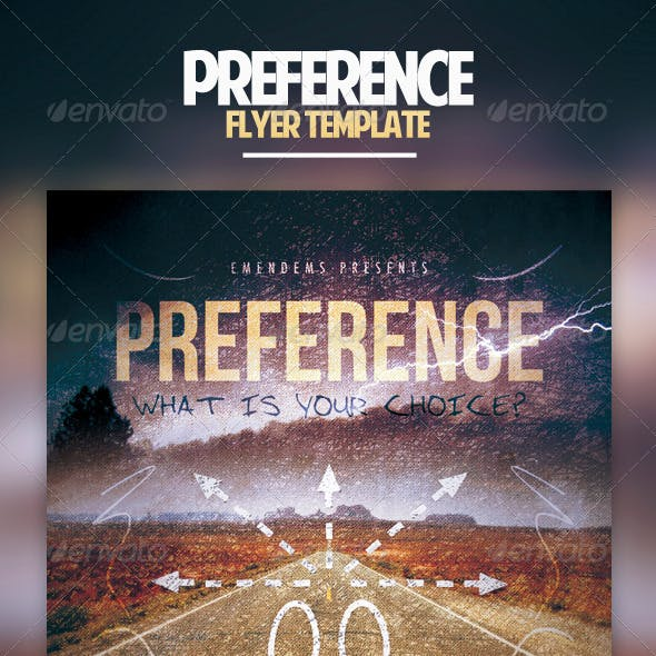 Preference Flyer Template