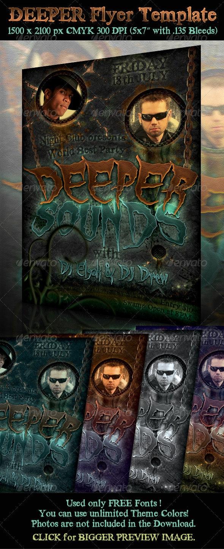 Deeper Flyer Template - Clubs & Parties Events