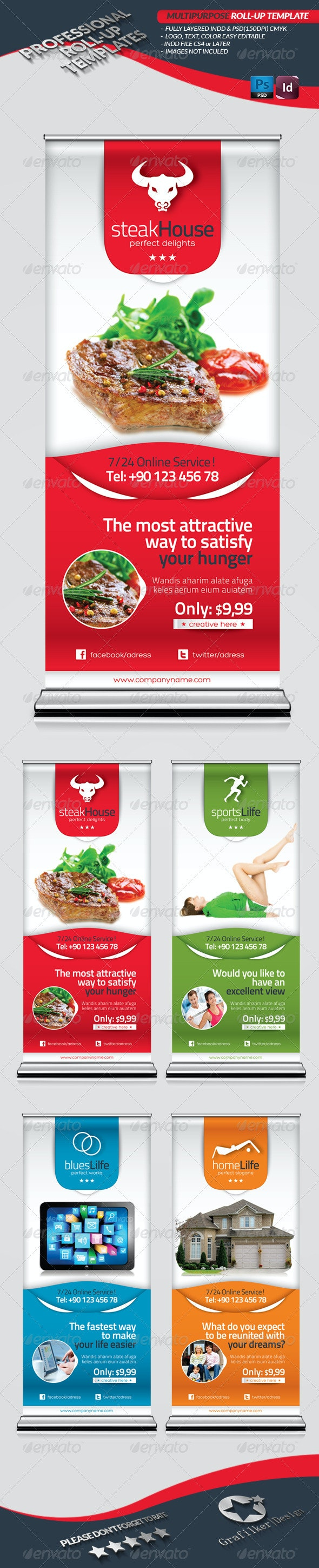 Multipurpose Roll-Up Template - Signage Print Templates