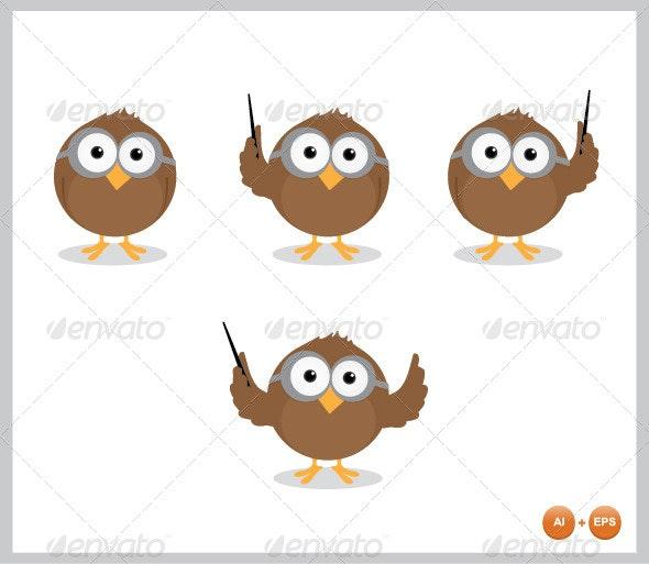 Owl Mascot - Animals Characters