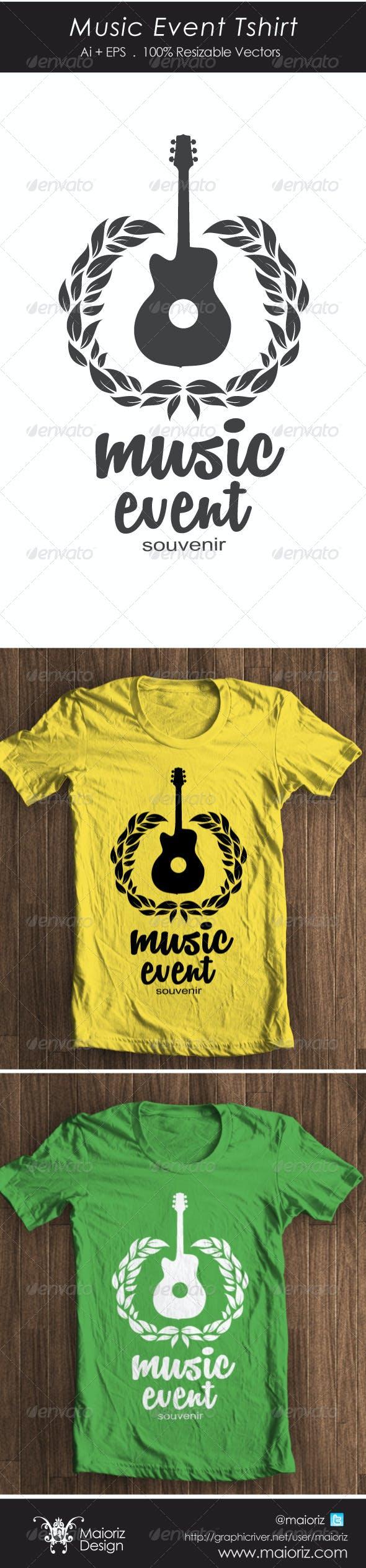 Music Event Tshirt