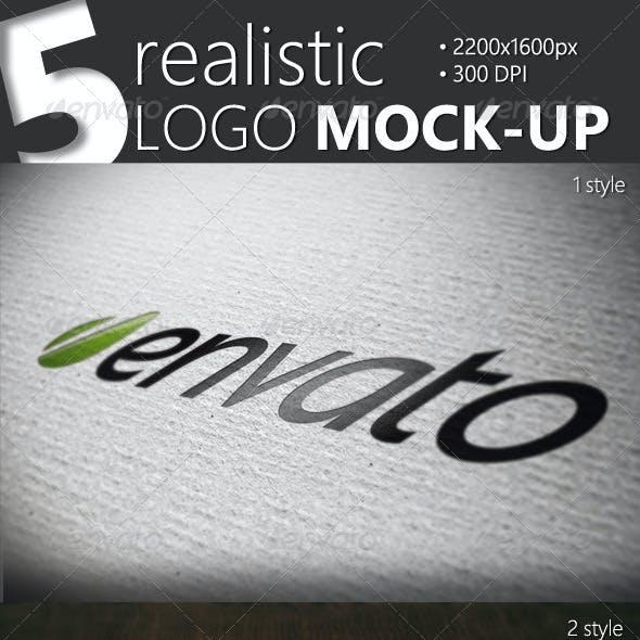 5 Mock-up Logo Pack
