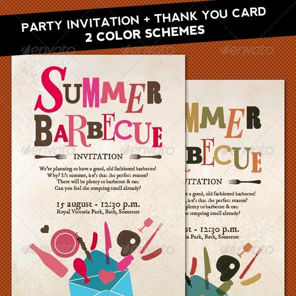 Summer Barbecue invitation