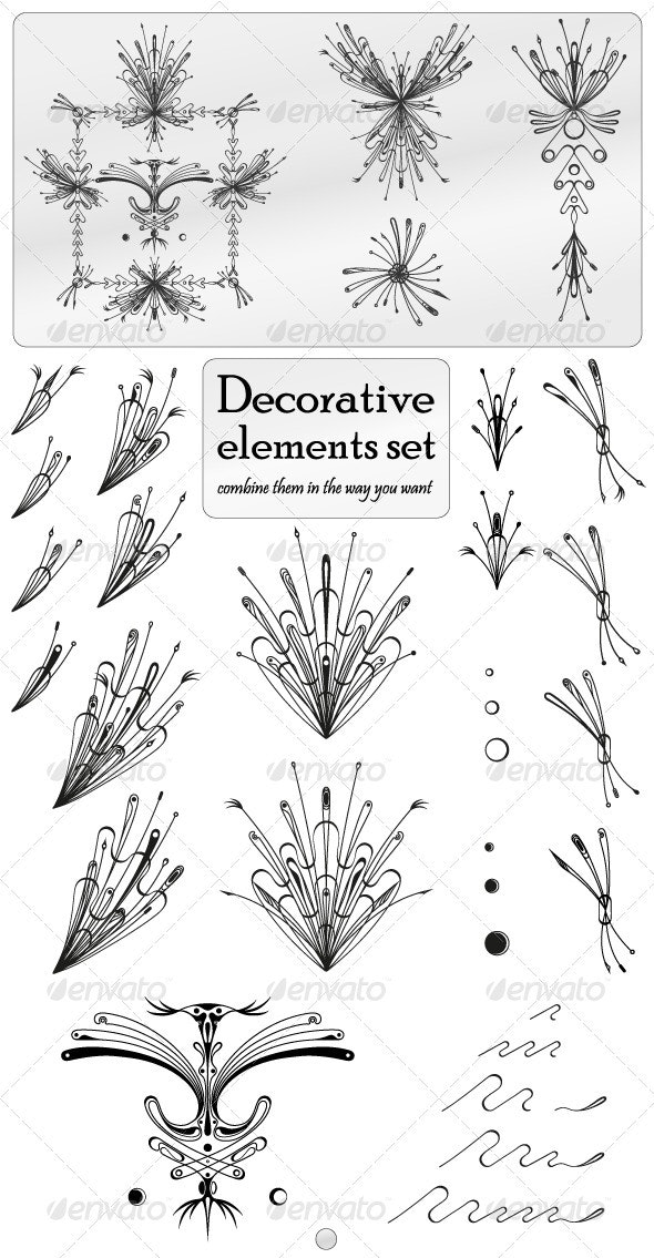 Decorative Elements Set - Flourishes / Swirls Decorative