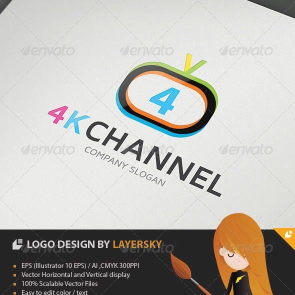 4K Television Channel Logo