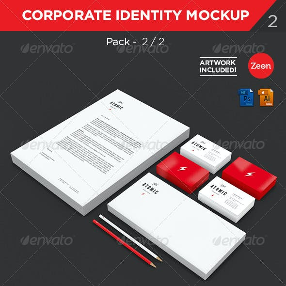 Brand Identity | Stationary Mockup - Pack:2/2