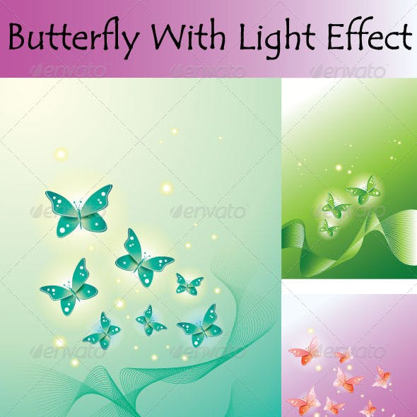 Butterfly With Light Effect