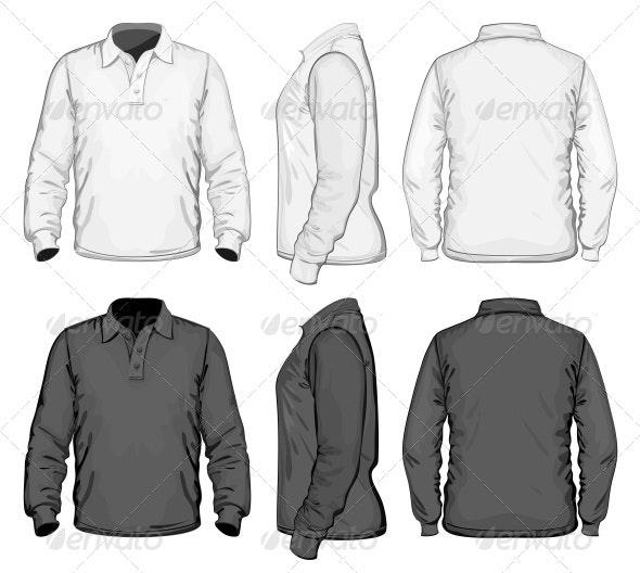 Men's Polo-shirt Design Template - Commercial / Shopping Conceptual