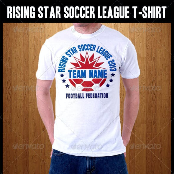 Rising Star Soccer League T-Shirt