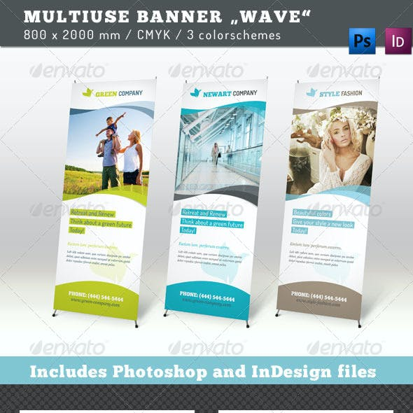 Multiuse Roll-up Banner Wave