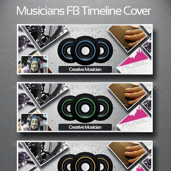 Musicians FB Timeline Cover Template V2