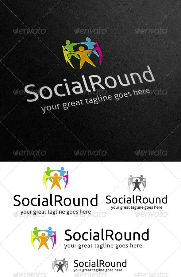 Social Round Logo - Humans Logo Templates