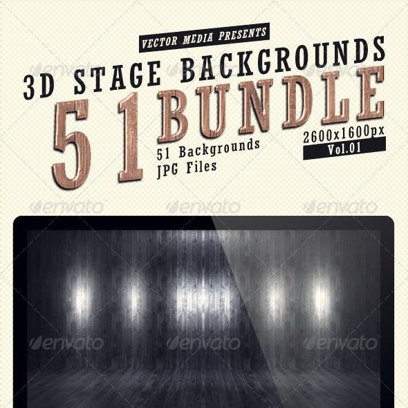3D Stage Backgrounds - Bundle Vol.1