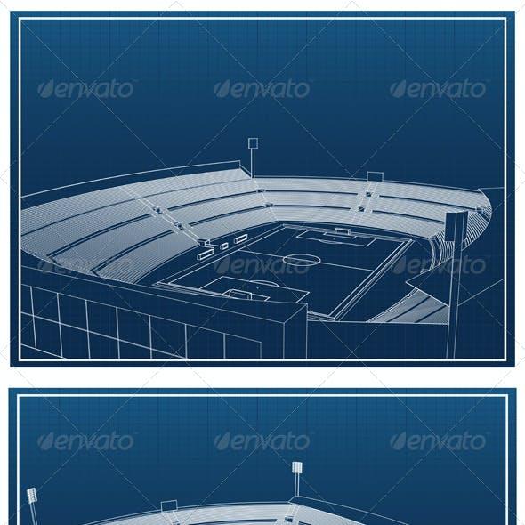 Soccer Stadium Blueprints