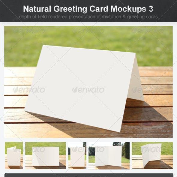 Natural Greeting Card Mockups 3