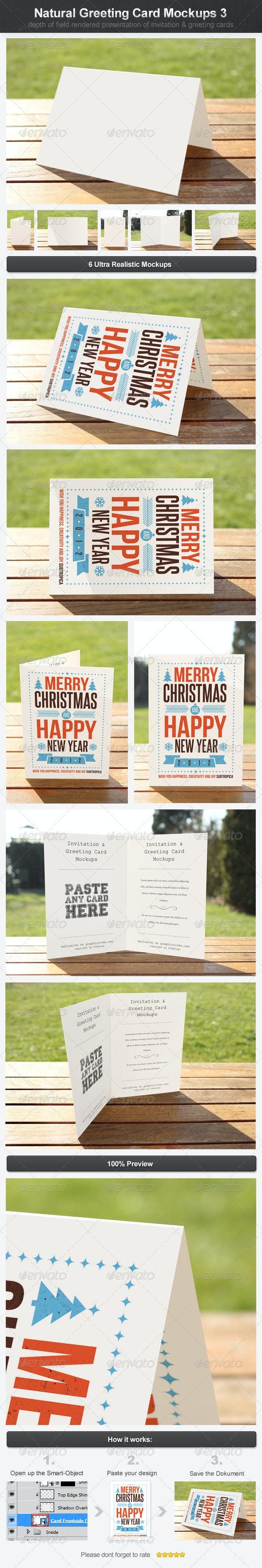 Natural Greeting Card Mockups 3 - Print Product Mock-Ups