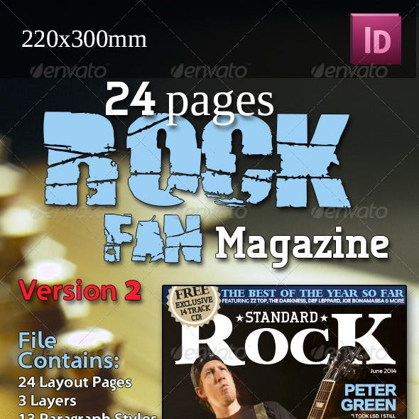 24 Pages Rock Fan Magazine Version Two