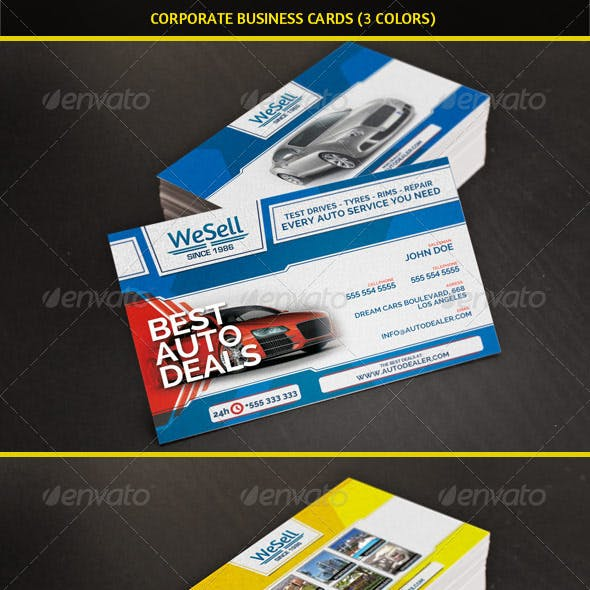 Multipurpose Corporate Business Cards