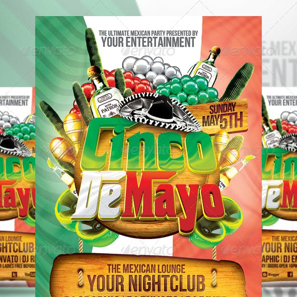 Cinco De Mayo Party Flyer