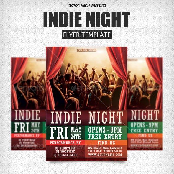 Indie Night - Flyer