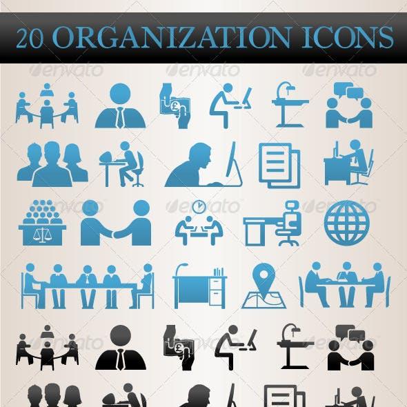 20 Organization Icons