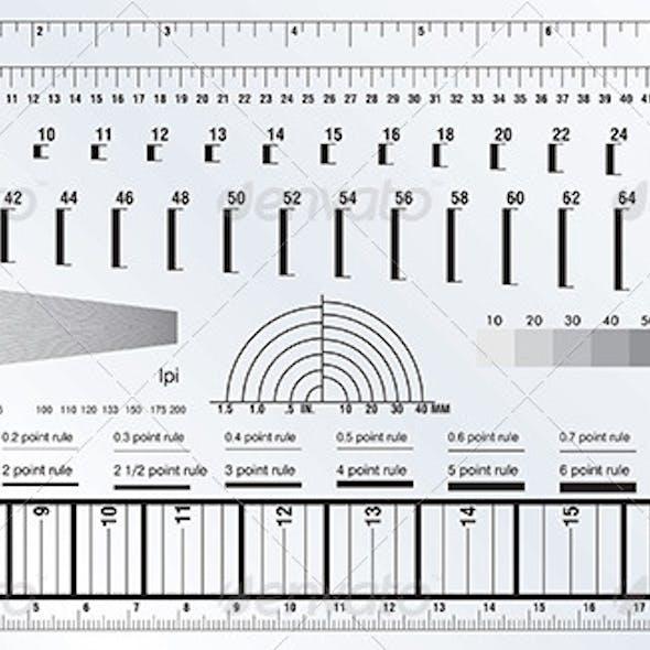 DTP Measure Precise Ruler