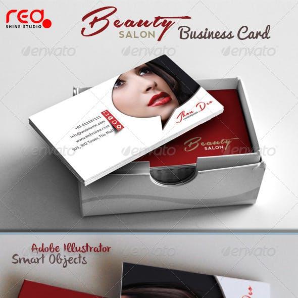 Fashion Beauty Salon Business Card