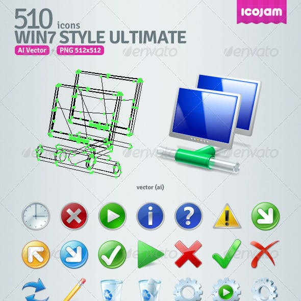 510 AI Win7 style icons