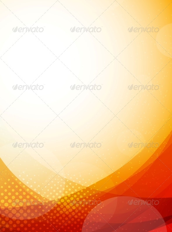 Bright Orange Background - Abstract Conceptual