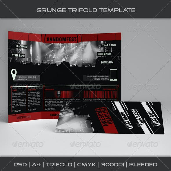 Grunge Trifold Template 05