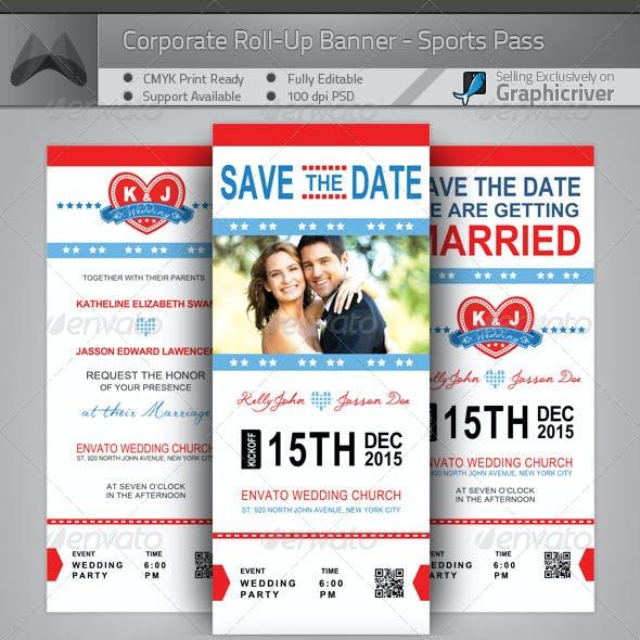 Wedding Roll-up Banner - Sports Pass