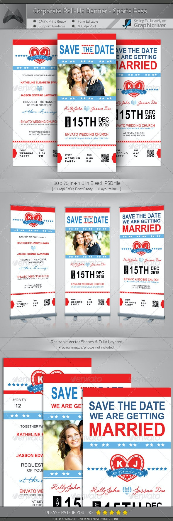 Wedding Roll-up Banner - Sports Pass - Signage Print Templates