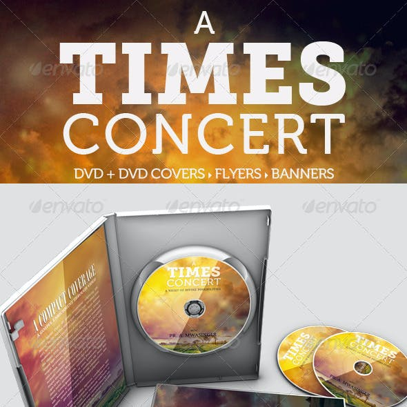 A Times Concert Collection DVD / Flyer / Banner