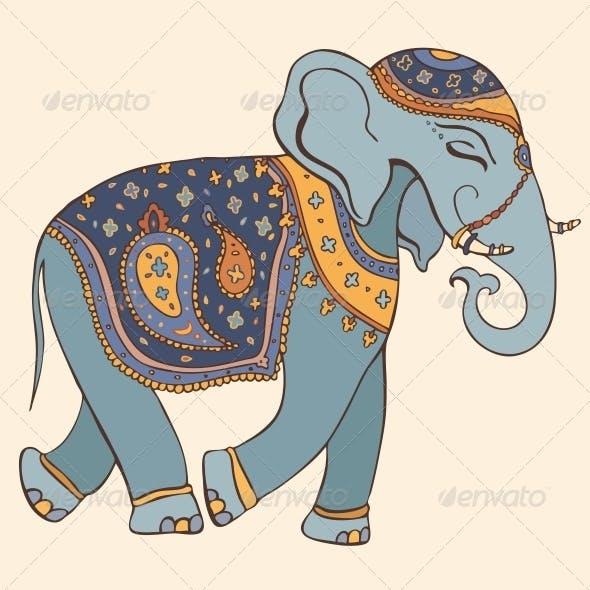 Illustration of Elephant Indian Style