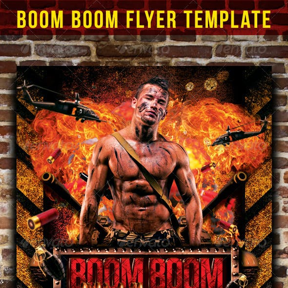 Boom Boom Flyer Template